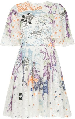 ZUHAIR MURAD Embroidered Flare Dress