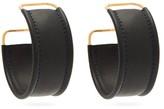 Jacquemus Les Fauteuils Leather Hoop Earrings - Womens - Black