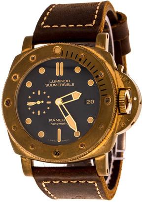 Panerai Blue Bronze Luminor Submersible 1950 3 Days Bronzo PAM00671 Men's Wristwatch 47 mm