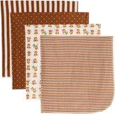 Gerber Baby-boys 4 Pack Flannel Receiving Blanket-Monkey