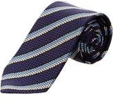 Ermenegildo Zegna Ermengildo Zegna Blue Striped Silk Tie