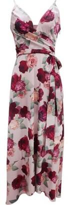 Dorothy Perkins Womens Chi Chi London Multi Colour Mabel Wrap Dress