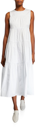 Co Sleeveless Tiered Cotton Dress