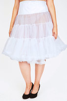 Yours Clothing HELL BUNNY White Petticoat Flare Skirt