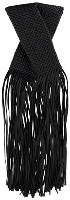 Bottega Veneta Fringe Crisscross Clutch Bag