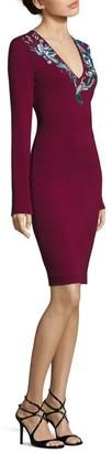 Roberto Cavalli Embellished V-Neck Dress
