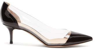 Gianvito Rossi Plexi 55 Pvc And Patent-leather Pumps - Black Multi