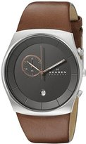 Skagen Men's SKW6085 Havene Saddle Leather Watch
