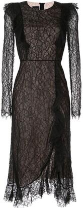 Giambattista Valli lace embroidered midi dress