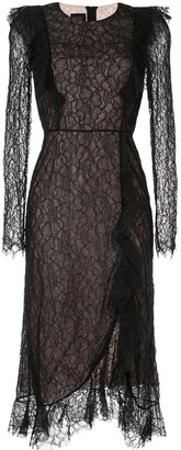 Giambattista Valli Lace Embroidered Midi Dress