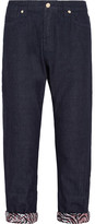 Marni Cropped Low-rise Boyfriend Jeans - Dark denim