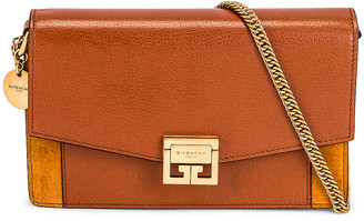 Givenchy Gv3 Wallet On Chain in Chestnut | FWRD