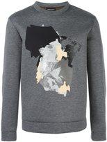 Emporio Armani abstract print sweatshirt