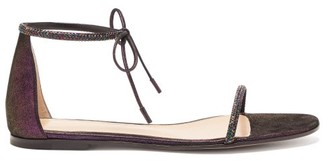 Gianvito Rossi Crystal-embellished Lame Sandals - Womens - Black
