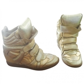 Isabel Marant Golden wedge trainers