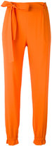 MSGM elasticated cuffs tapered trousers - women - Polyester/Acetate/Viscose - 44