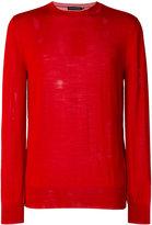 Alexander McQueen crew neck jumper - men - Silk/Wool - S