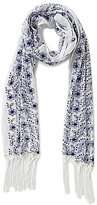 Anna & Ava Blooms Fringed Floral-Embroidered Scarf