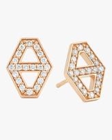 Walters Faith Keynes Diamond Hexagon Stud Earrings