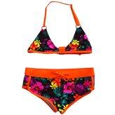 Mrs.Baker'Home 3 Styles Kids Girls Stretchy Vivid Floral Two-Pieces Bikini set Swimsuit Beachwear