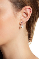 Argentovivo Sterling Silver CZ-Accented Pearl Jacket Earrings