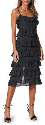 MinkPink Verity Sleeveless Strappy Frill Dress