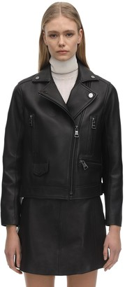 Karl Lagerfeld Paris Ikonik Leather Biker Jacket
