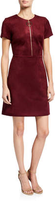 Calvin Klein Faux Suede A-Line Dress