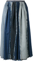 Antonio Marras contrast pleated skirt - women - Cotton - 40