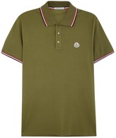 Moncler Olive Piqué Cotton Polo Shirt