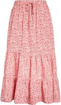 Caslon Paisley Print Midi Skirt