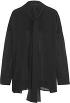 Haider Ackermann Pussy-bow silk-chiffon blouse