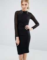 Ted Baker Wrenti Fitted Long Sleeve Rib Dress