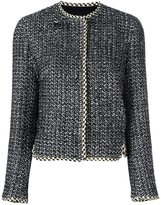 Giambattista Valli concealed front fastening jacket - women - Cotton/Polyester/Silk/Viscose - 44