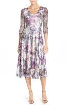 Komarov Women's Mixed Media A-Line Dress