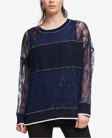 DKNY Sheer Lace Sweatshirt