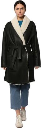 Loewe Hooded Shearling Coat