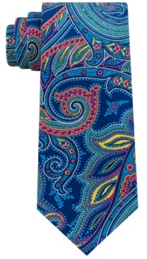 Tommy Hilfiger Men's Pop Paisley Print Silk Tie