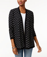 Charter Club Patterned Open-Front Cardigan, Only at Macy's