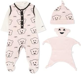 Emporio Armani Kids Logo-Print Crew-Neck Pajamas
