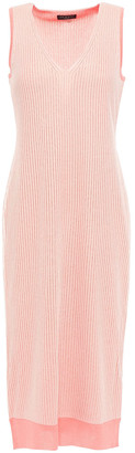 Rag & Bone Metallic Ribbed-knit Dress