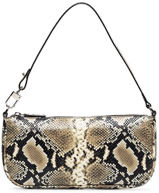 BY FAR Rachel snake print two-way bag