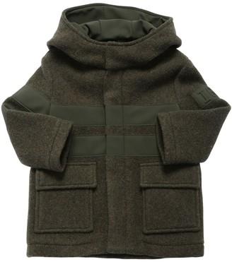 Il Gufo Wool Felt Coat W/ Lycra Inserts