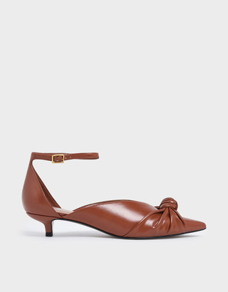 Charles & Keith Knotted Kitten Heel Pumps