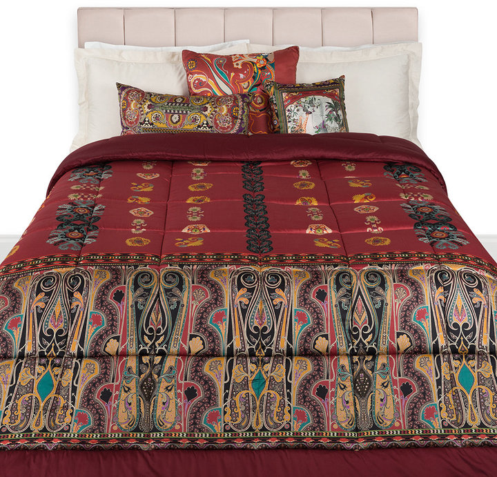 Etro Bukhara Quilted Bedspread - 270x270cm - Red