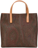 Etro paisley print tote bag - women - Cotton/Polyurethane - One Size