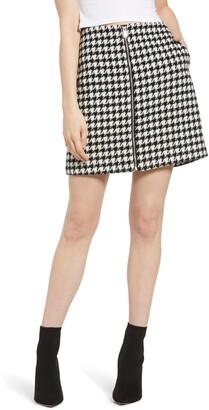 Vero Moda Maria Houndstooth Check Skirt