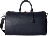 Bugatchi Semi Embossed Leather Weekender Duffel Bag