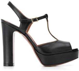 L'Autre Chose Chunky Heel Peep Toe Sandals