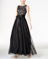 Jessica Howard Sequined Lace and Tulle Ball Gown